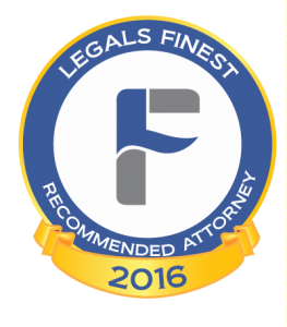 Legals Finest Recommended Attorney 2016